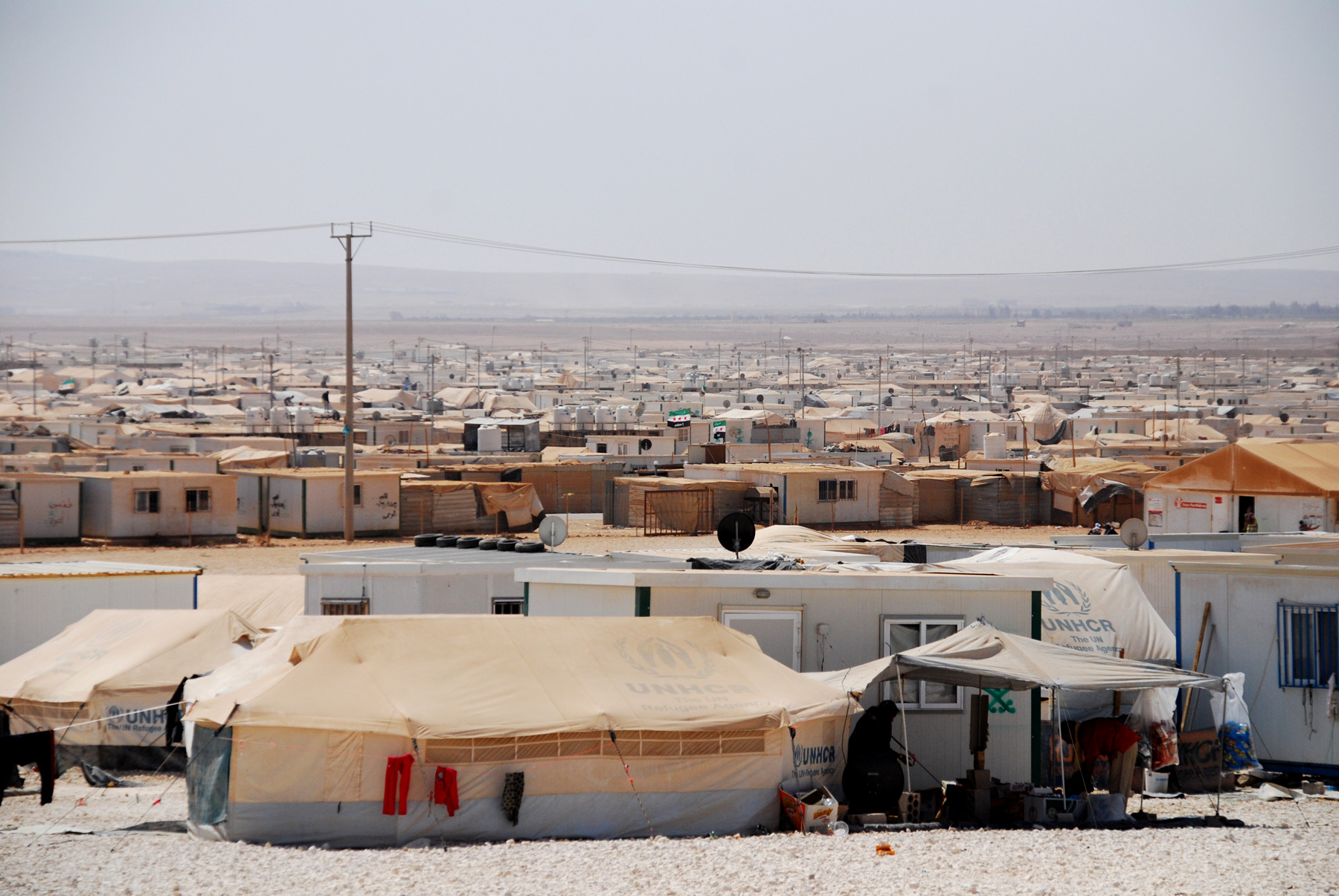 Zaatari refugee camp in Jordan / Andreas Hackl