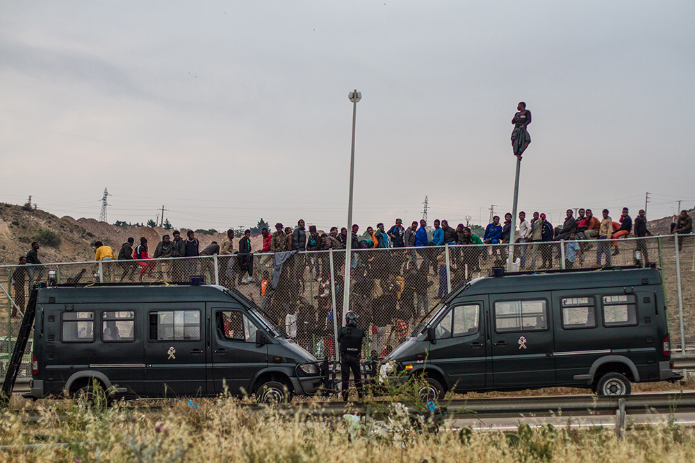 Photo by José Palazón: The Moroccan-Spanish border near Melilla (May 2014).