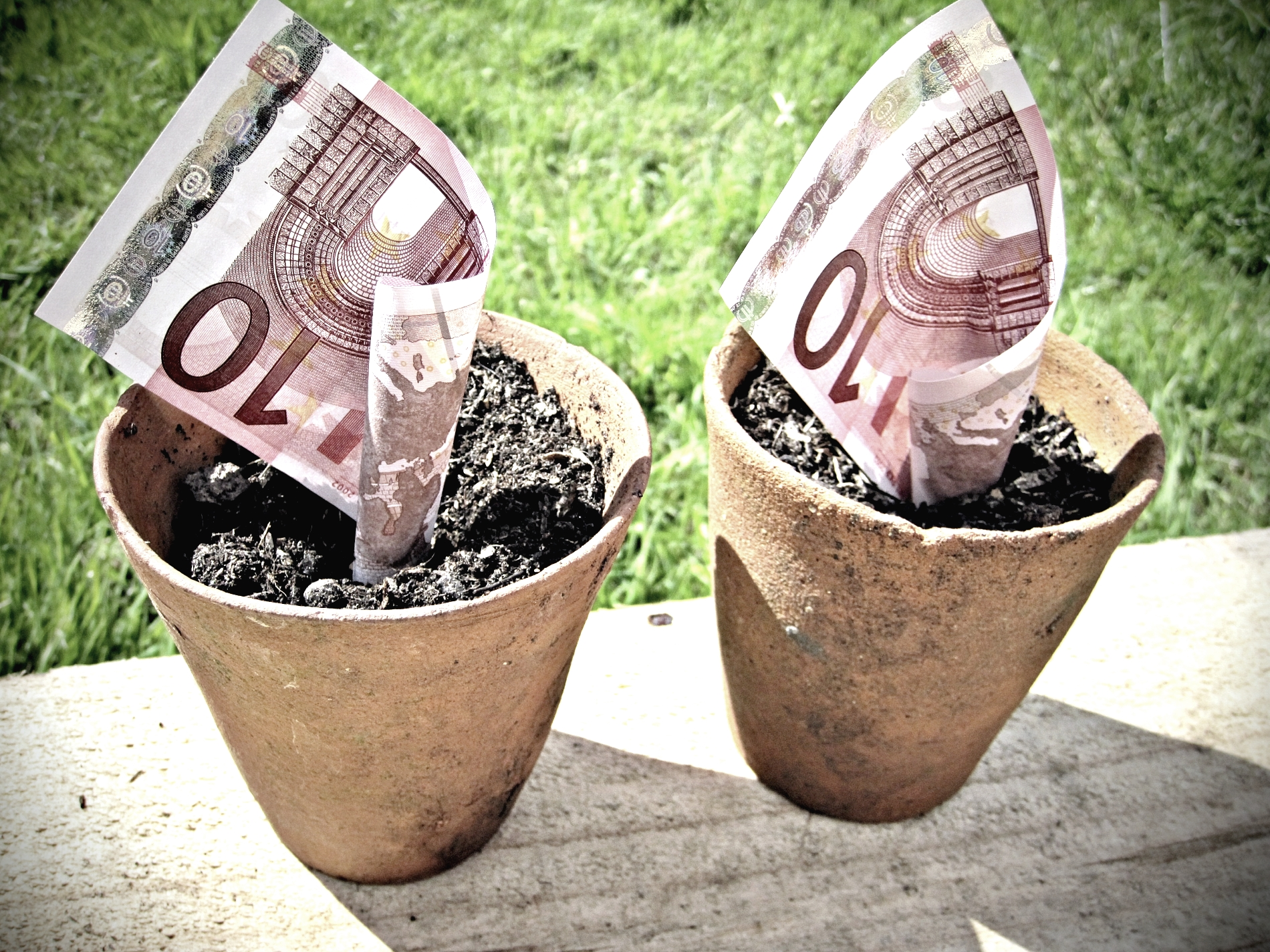"""Euro Money in Pots"" by Images Money (Flickr, CC BY 2.0)."